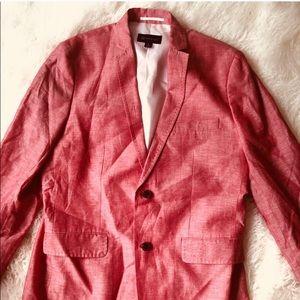 Men's size Large Coral linen jacket.